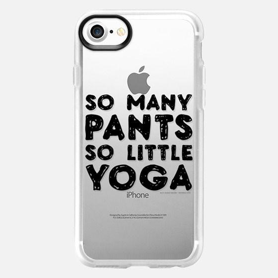 Yoga Pants - Clear Case - Classic Grip Case