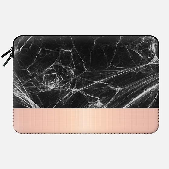Black Marble and Pink - Macbook Sleeve