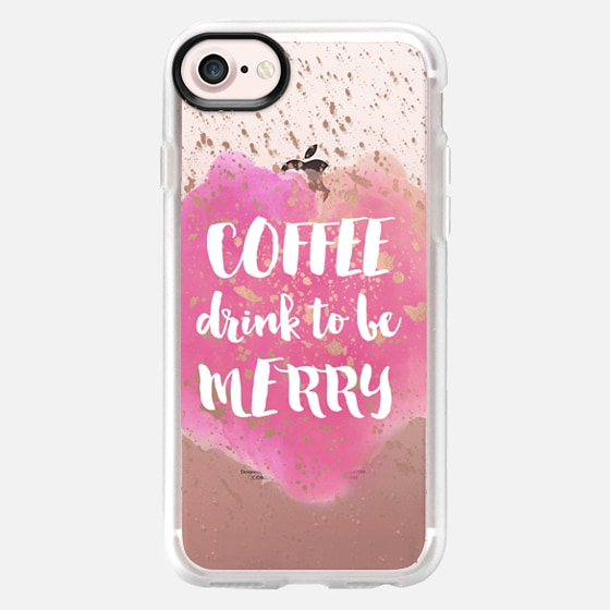 Coffee Drink to Be Merry - Wallet Case