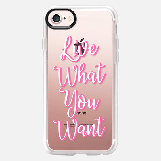 Live what you want - Classic Grip Case