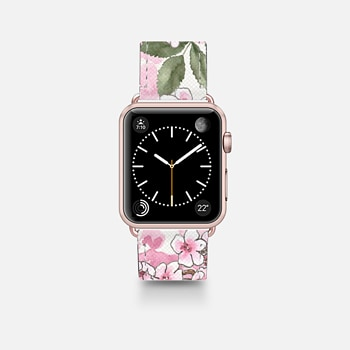 Leather Watch Band -  IN BLOOM - Apple Watch