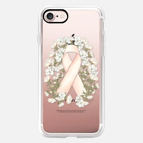 PINK RIBBON // BREAST CANCER BOW (Transparent Background) -