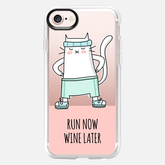 Cat - Run Now Wine Later - Sport Jogging - Coral Pink -