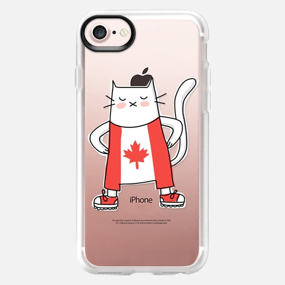 Cat in Canada Flag Suit - Patriotic Fashion - Travel Around the World - Wallet Case