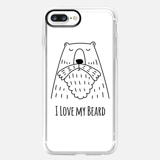 For Men - I Love my Beard - Bear - White - Wallet Case