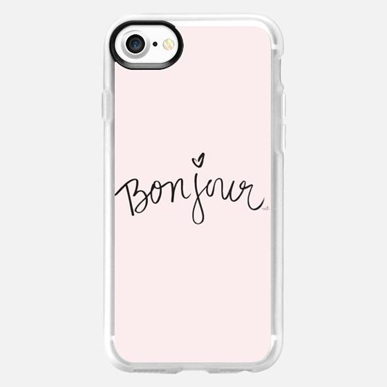 Bonjour Pink Hello Case - Wallet Case