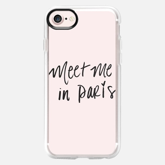 Meet Me In Paris Fashion Design Pink French Quote - Wallet Case