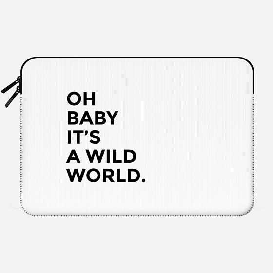 Wild World Quote - Macbook Sleeve